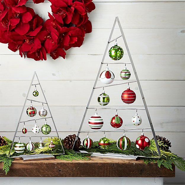 A-Frame Silver Ornament Trees