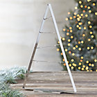 "Silver 26"" Metal Ornament Tree."