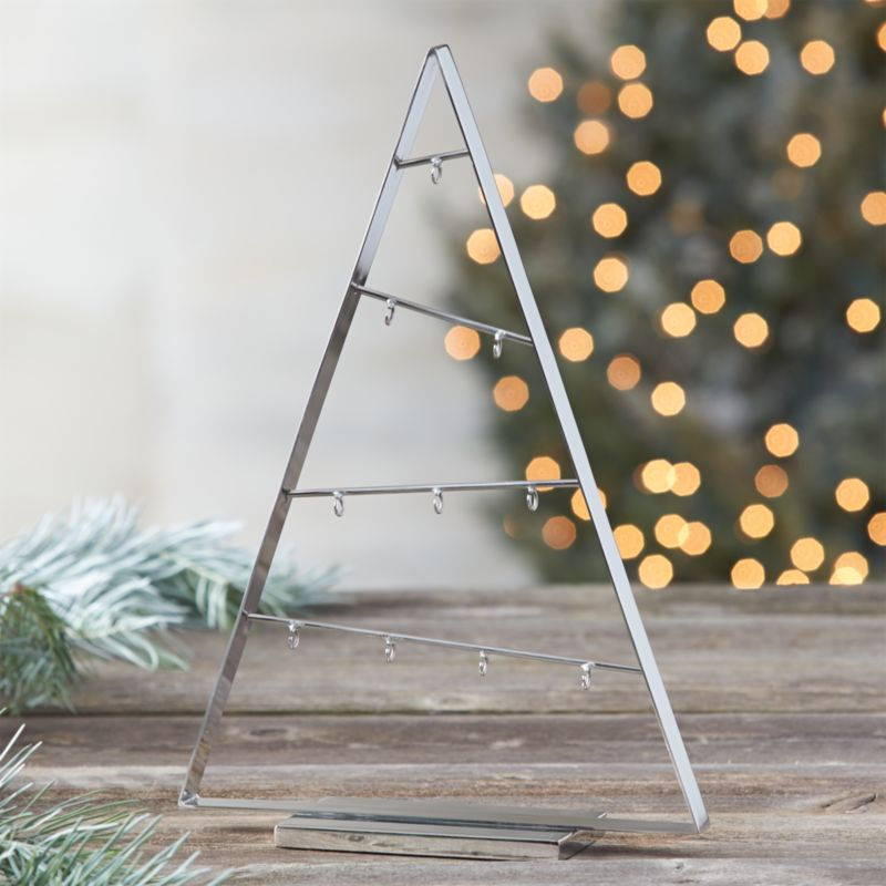 A Frame Silver 16 Quot Metal Ornament Tree Crate And Barrel