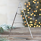 "Silver 16"" Metal Ornament Tree."