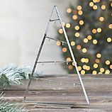 "Silver 16"" Metal Ornament Tree"