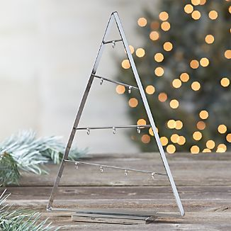 "A-Frame Silver 16"" Metal Ornament Tree"
