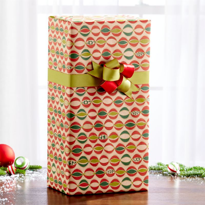Ornament Garland Kraft Wrapping Paper