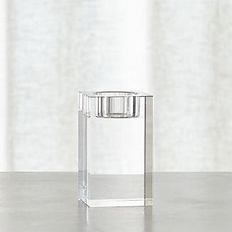 Oslo Medium Crystal Tea Light Candle Holder