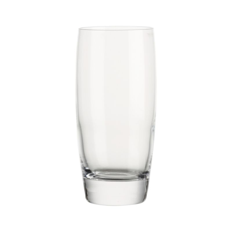 Stock the bar with classic Italian entertainers priced for every day, styled for every occasion… formal to casual. The dishwasher-safe highball glass curves gracefully to thick, clear shams.<br /><br /><NEWTAG/><ul><li>Casual everyday glass at an exceptional value</li><li>Clear glass</li><li>Dishwasher-safe</li><li>Made in Italy</li></ul>