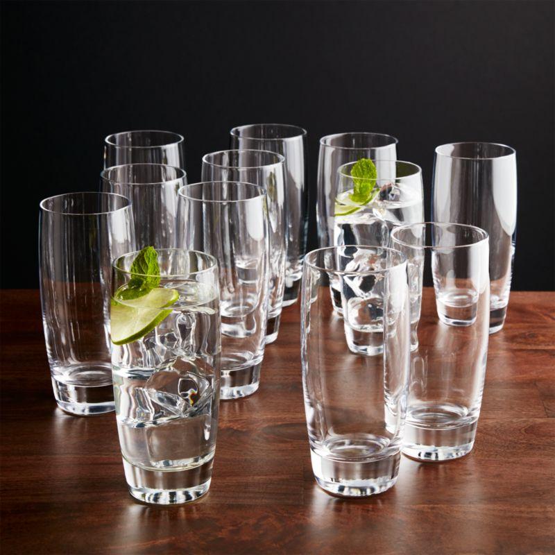 Set Of 12 Otis Highball Glasses Crate And Barrel