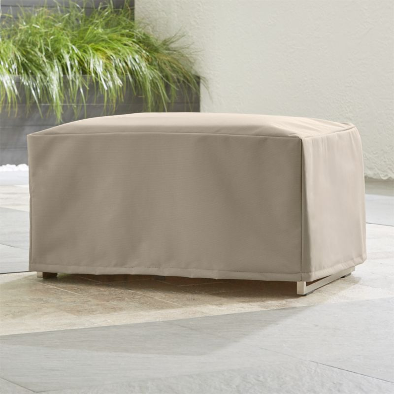 Outdoor ottoman cover crate and barrel for Crate and barrel pouf