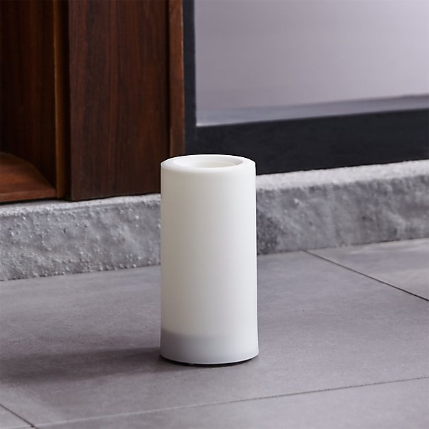"""Outdoor 3""""x6"""" Pillar Candle with Timer"""