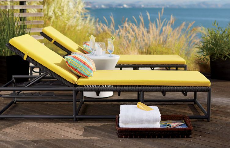 New Outdoor is here. Pictured: Moracco Chaise Lounge