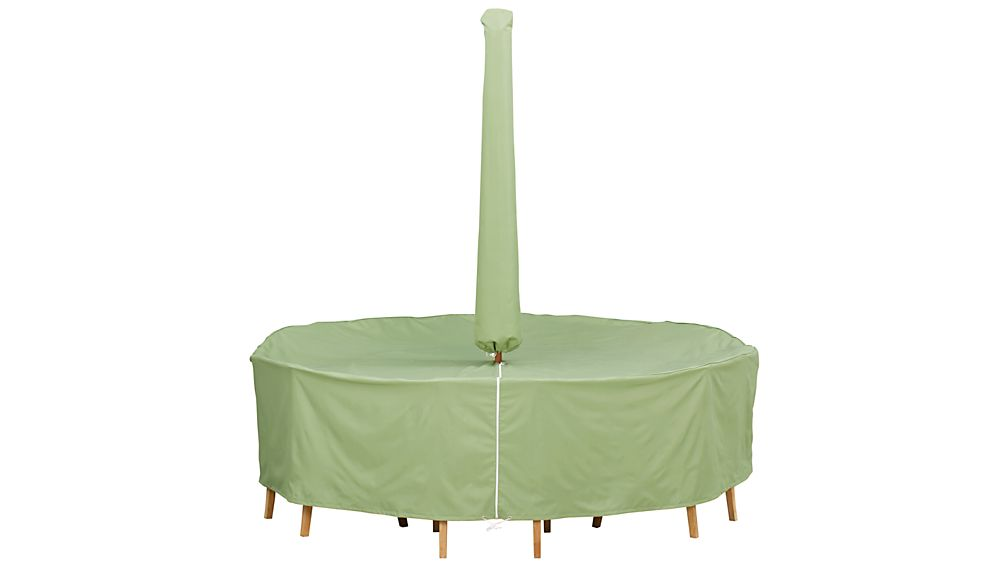 Round Table/Chairs Outdoor Furniture Cover with Umbrella Option