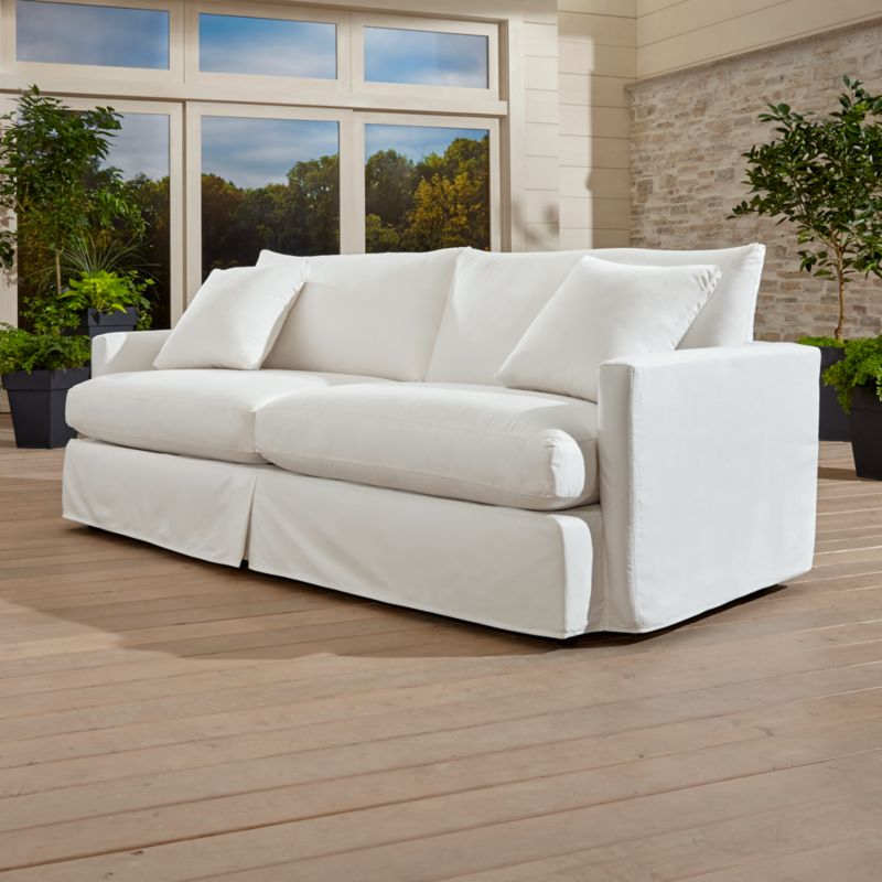 lounge ii petite outdoor slipcovered 93 sofa sundial