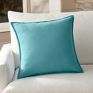 "Sunbrella ® Mineral Blue 20"" Sq. Outdoor Pillow"