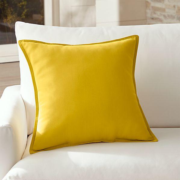 "Sunbrella ® Sulfur 20"" Sq. Outdoor Pillow"