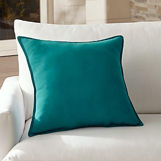 "Sunbrella ® Bold Turquoise 20"" Sq. Outdoor Pillow"