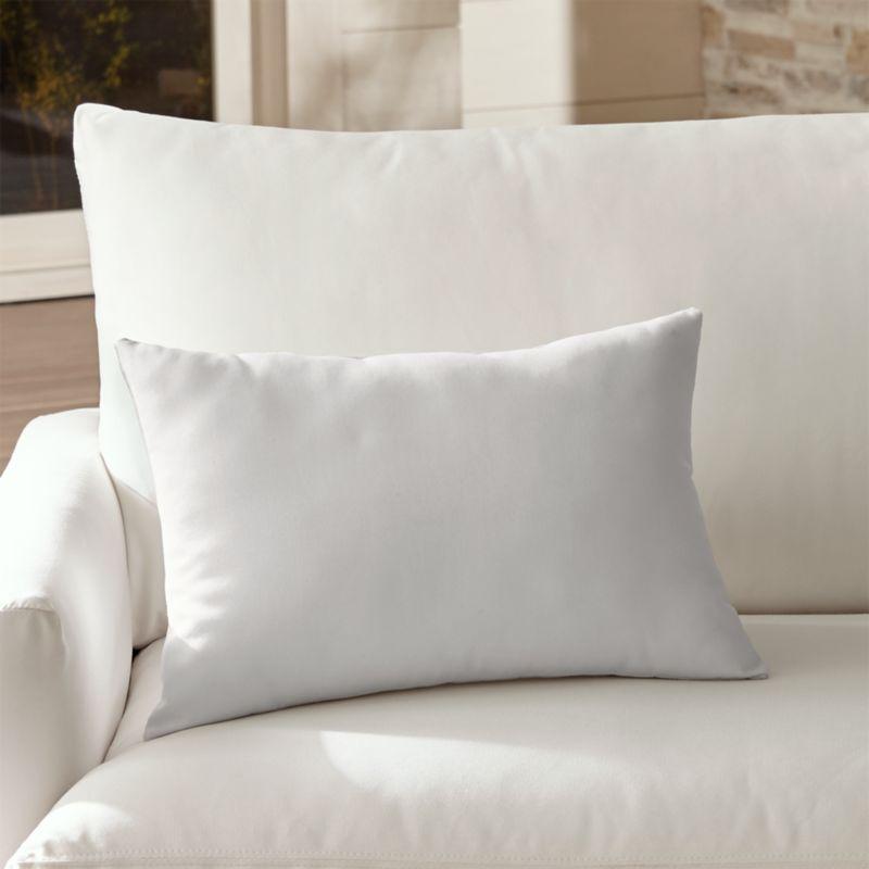 Sunbrella 174 White Sand Outdoor Lumbar Pillow Crate And