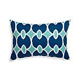 Aqualinks Blue Outdoor Lumbar Pillow
