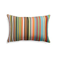 Chromatic Micro Striped Outdoor Lumbar Pillow