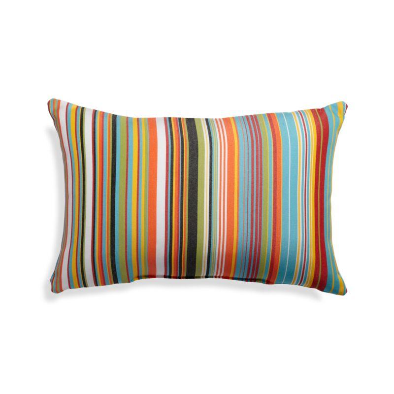 Chromatic Micro Striped Outdoor Lumbar Pillow