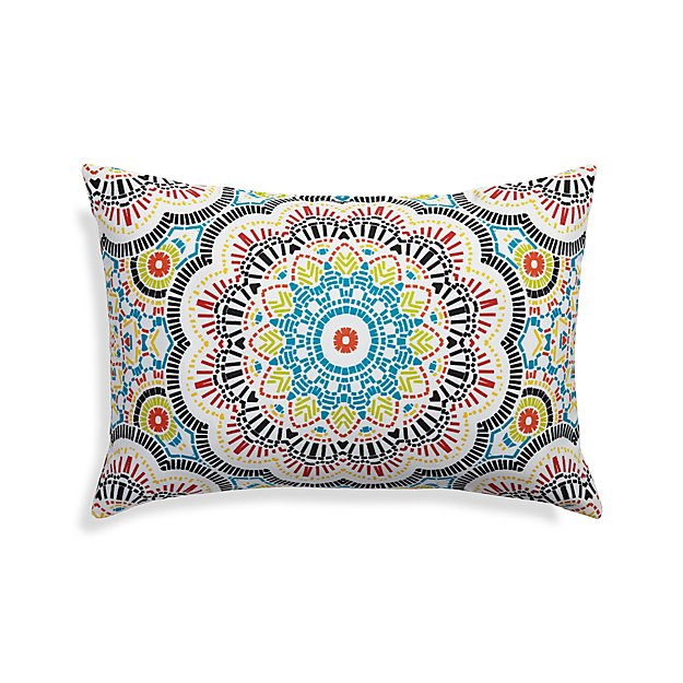 Kaleidoscope Outdoor Lumbar Pillow Crate And Barrel