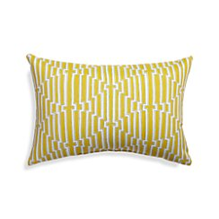 Maze Yellow Outdoor Lumbar Pillow