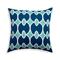 "Aqualinks 20"" Sq. Blue Outdoor Pillow"