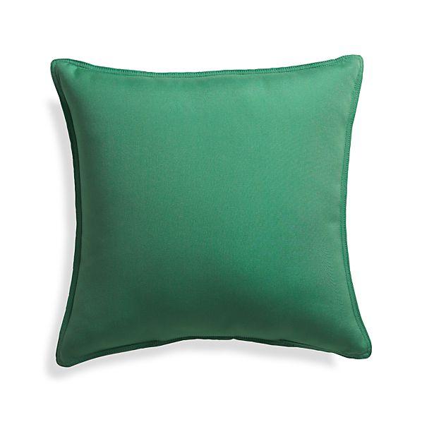 """Sunbrella ® Bottle Green 20"""" Sq. Outdoor Pillow"""