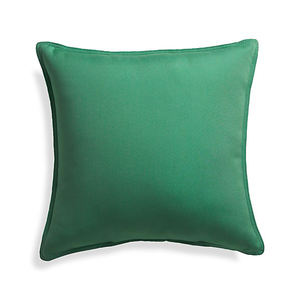 "Sunbrella ® Bottle Green 20"" Sq. Outdoor Pillow"