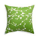 """Branch Botanical 20"""" Sq. Green Outdoor Pillow"""