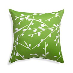 "Branch Botanical 20"" Sq. Green Outdoor Pillow"