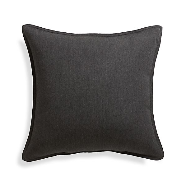 """Sunbrella ® Charcoal 20"""" Sq. Outdoor Pillow"""