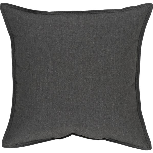 "Sunbrella ® Charcoal 22"" Sq. Outdoor Pillow"