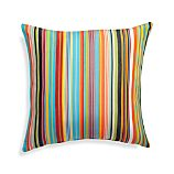 "Chromatic Micro Striped 20"" Sq. Outdoor Pillow"