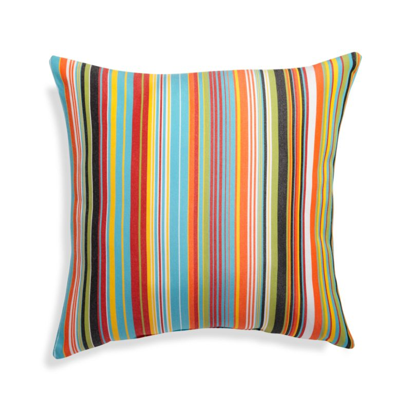 """Chromatic Micro Striped 20"""" Sq. Outdoor Pillow"""