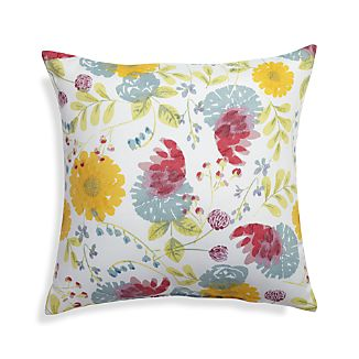 "Cottage Garden 20"" Sq. Floral Outdoor Pillow"