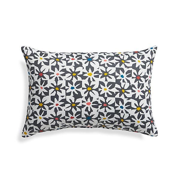"Floral Tiles 20""x13"" Outdoor Pillow"