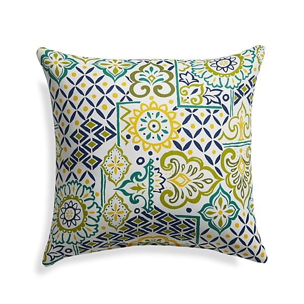 "Global Tiles 20"" Sq. Outdoor Pillow"