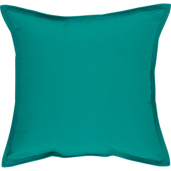 "Sunbrella ® Harbor Blue 22"" Sq. Outdoor Pillow"
