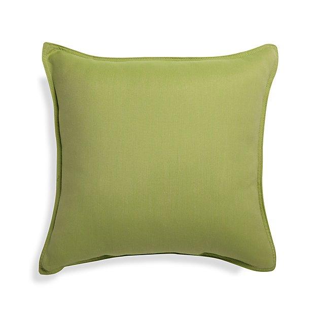 "Sunbrella ® Kiwi Green 20"" Sq. Outdoor Pillow"