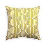 "Maze 20"" Sq. Yellow Outdoor Pillow"