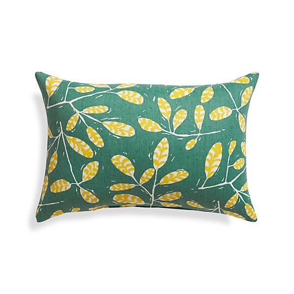 """Modern Botanicals 20""""x13"""" Outdoor Pillow"""