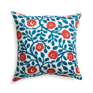 Poppy Scroll 20 Sq. Outdoor Pillow