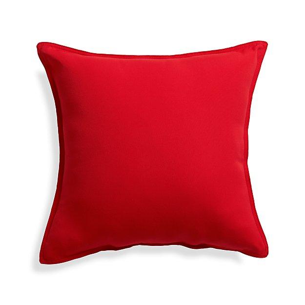 "Sunbrella ® Ribbon Red 20"" Sq. Outdoor Pillow"