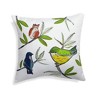 "Summer Birds 20"" Sq. Outdoor Pillow"