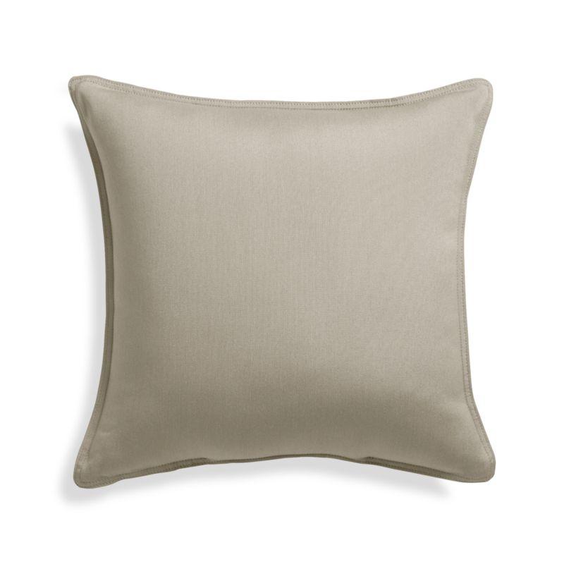 Sunbrella 174 Stone 20 Quot Sq Outdoor Pillow Crate And Barrel