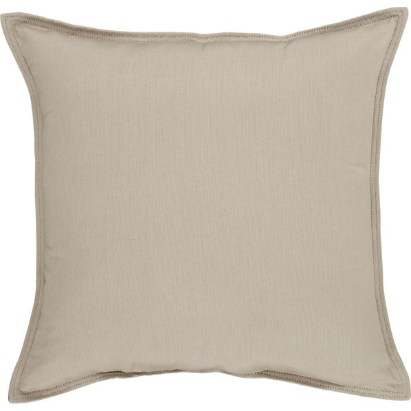 "Sunbrella ® Stone 22"" Sq. Outdoor Pillow"