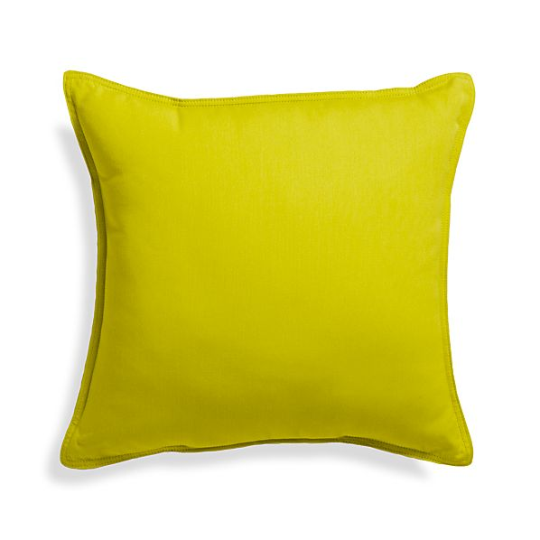 "Sunbrella ® Sulfur 20"" Sq. Outdoor Pillow"