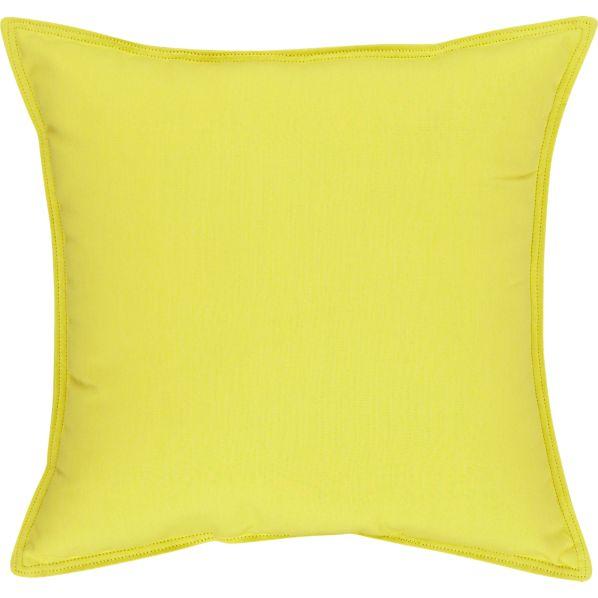"Sunbrella ® Sulfur 22"" Sq. Outdoor Pillow"