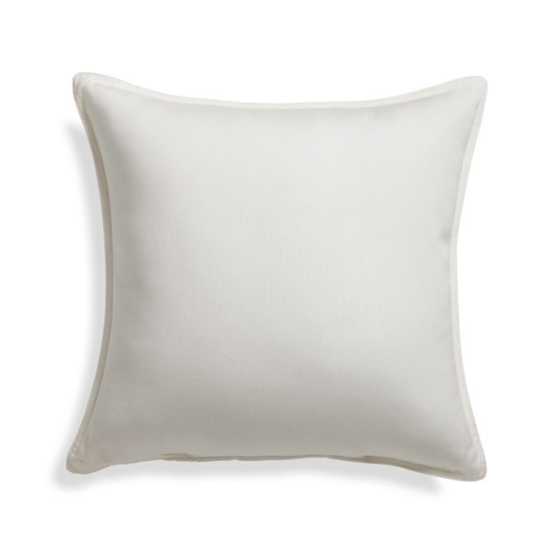 "Sunbrella ® White Sand 20"" Sq. Outdoor Pillow"