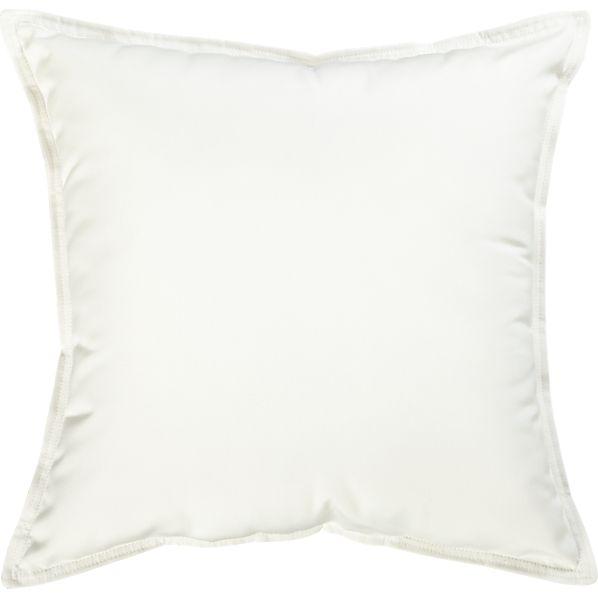 "Sunbrella ® White Sand 22"" Sq. Outdoor Pillow"