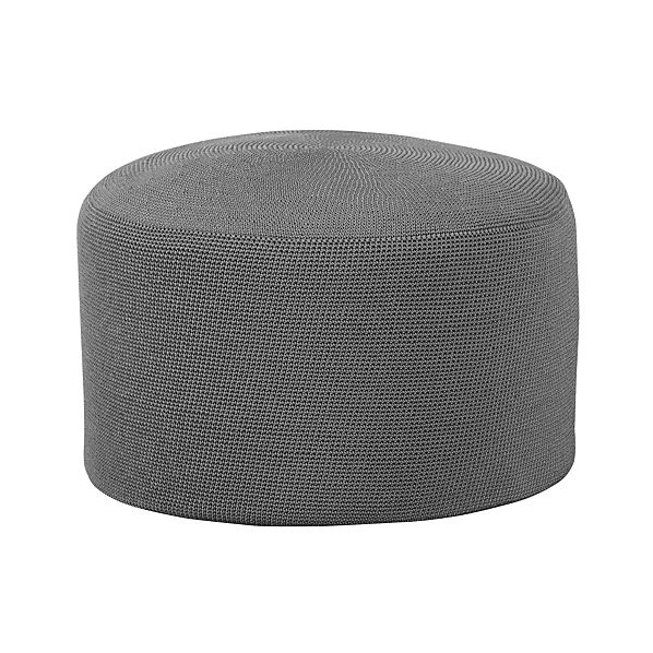 Outdoor Graphite Pouf